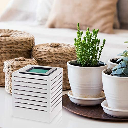Mindful Design Modern Cut Wax Warmer - Wood Finish Sliced Frame Freshener Wax Melter to Brighten Up Your Living Room, Bathroom, Bedroom and Kitchen (White): Kitchen & Dining