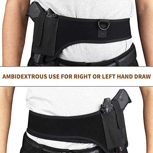 DMAIP Tactical Gun Holster Concealed Belly Band Pistol Holster Elastic Waist Shoulder Holster : Sports & Outdoors