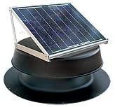Solar Attic Fan 36-watt - Black - with 25-year Warranty - Florida Rated by Natural Light - Solar Panels