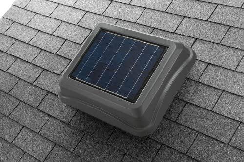 Broan-NuTone 345SOWW Surface Mount Solar-Powered Attic, Energy-Saving Ventilator, Weathered Wood, 28-Watts, 537 CFM - Built In Household Ventilation Fans