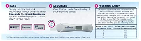 Clearblue Digital Pregnancy Test with Smart Countdown, 5 count: Health & Personal Care