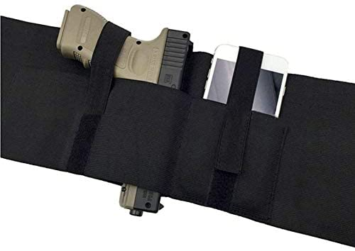 37inch Tactical Belly Band Holster Concealed Carry Pistol Gun Pouch Waist Bag Invisible Elastic Girdle Belt for Outdoor Hunting : Sports & Outdoors