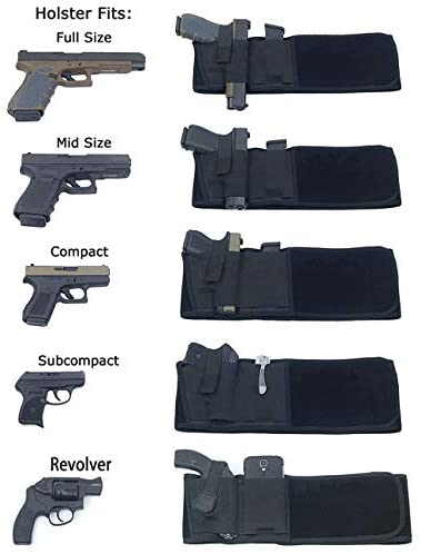 Stealth Belt Multifunction Belly Band Holster Neoprene for Concealed Carry for Women and Men Fits Glock, Sig Sauer, Ruger, Kahr, Beretta, 1911, etc (Black) : Sports & Outdoors