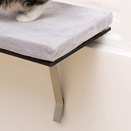 sweetgo Cat Window Perch-Mounted Shelf Bed for cat-Funny Sleep DIY Kitty Sill Window Perch- Washable Foam Cat Seat : Pet Supplies