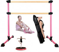 MARFULA (4 Ft) Adjustable & Portable Freestanding Double Ballet Barre with Carrying Bag for Dancing Stretching : Sports & Outdoors