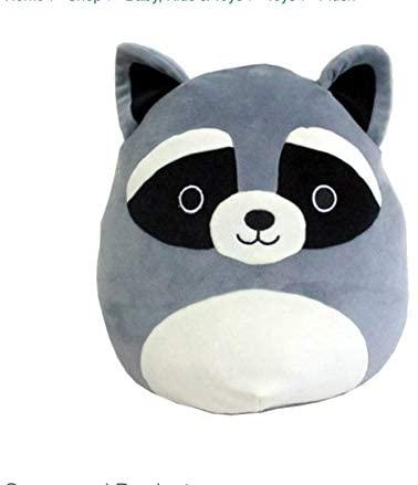 "Squishmallows Kellytoy 16"" Raccoon Super Soft Plush Toy Pillow Animal Pet Pal Buddy: Toys & Games"