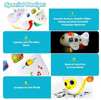 baccow Baby Toys 6 to12 18 Months Light Up Moving Musical Airplane Toy for Age 1 2 3 Year Old Boys Girls Gifts Learning Developmental Early Educational Sensory Toys for Toddlers Infants Little Kids: Toys & Games