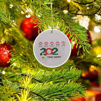 Honykids 2020 Personalized Christmas Tree Hanging Ornaments,Creative Christmas Decorations Gifts Xmas Tree Hanging Pendants,Survivor Family Christmas Ornaments (A Black): Home & Kitchen