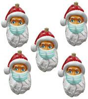 abcnature 2020 Christmas Ornament Covid_Santa Wearing_Mask in Quarantine Keepsake Unique Luxury Ornament for Tree Christmas Decoration (Multicolore): Home & Kitchen