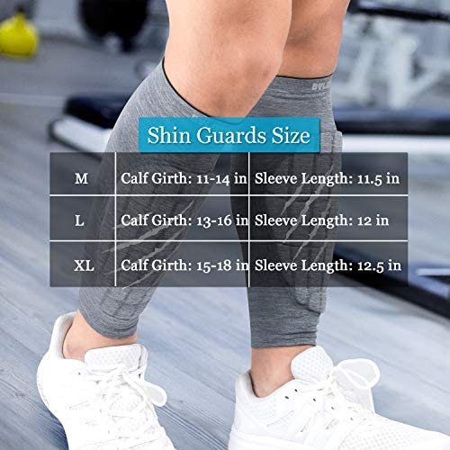 BOLDROLE Shin Guards, Calf Compression Sleeve Youth Shin Protection Flexible Breathable Calf Guard Shin Pads Fit Men & Women Great for Soccer Running Cycling, Unisex - 1 Pair : Sports & Outdoors