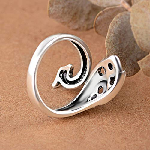 Kariwell Knitting Ring, Metal Yarn Guide Finger Holder Adjustable Knitting Thimble for Crochet Knitting Crafts Accessories Tool (Advanced Phoenix Ring): Beauty