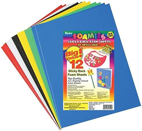 Darice Sticky Back Foam Sheets, 9 by 12-Inch, 12/Pack: Arts, Crafts & Sewing
