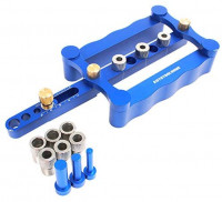 AUTOTOOLHOME Self Centering Doweling Jig Kit Punch Locator Dowel Jigs 1/4 3/8 5/16inch Drill Guide sleeve Tools for Woodworking Joinery