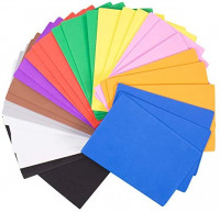 Horizon Group USA 30 Rainbow Colorful Foam Sheets 5X 8.5, Multipack Assorted Vibrant Colors, Great for DIY Craft Projects, Multicolor: Toys & Games