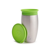 Munchkin Miracle Stainless Steel 360 Sippy Cup, Green, 10 Ounce : Baby