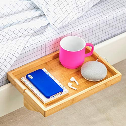 BedShelfie The Original Bedside Shelf - 9 Colors / 4 Sizes - The Perfect College Dorm Room Essential (Minimalist Size, Natural): Kitchen & Dining