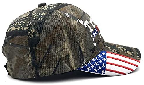 YAKER Trump 2020 Keep America Great Embrodiery Campaign Hat USA Baseball Cap (009 Camo) at Men's Clothing store