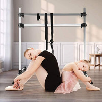 ETE ETMATE Ballet Barre, 4FT Portable Double Ballet Barre, Aluminum Freestanding Ballet Barre Adjustable and Light Weight Stretch/Dance Bar Including Free Leg Stretching for Home or Studio : Sports & Outdoors