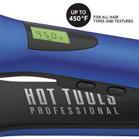 Hot Tools Professional Radiant Blue Digital Titanium Flat Iron, 1 1/2 Inches: Beauty