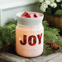 CANDLE WARMERS ETC. Illumination Fragrance Warmer- Light-Up Warmer for Warming Scented Candle Wax Melts and Tarts or Essential Oils to Freshen Room, Holiday Plaid Joy: Home & Kitchen