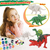 G.C Dinosaur Painting Kit for Kids Arts and Crafts DIY 3D Painting Dinosaur Toys Set Boys Girls Creativity Gifts Easter Party Favors: Toys & Games