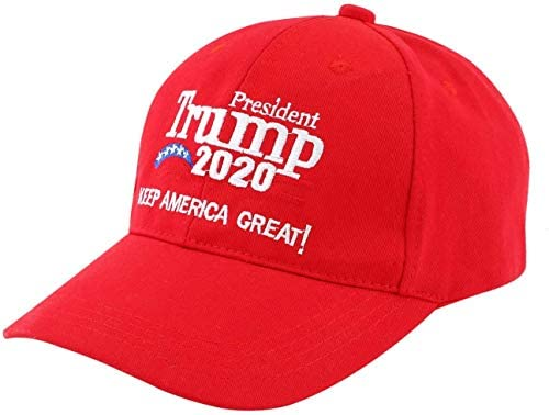 Donald Trump 2020 MAGA Hat Make/Keep America Great Again Cap Adjustable Baseball Snapback Caps Gifts for Men Women Red Embroidery President Hats Merchandise: Clothing