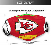 Adjustable Chiefs Face Mask Covers For Men Women Reusable Windproof Pattern Dustproof Mouth Graphic Balaclavas Headwear: Clothing