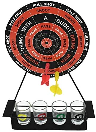Drinking Game Party Supplies (Metal Dart Board): Toys & Games