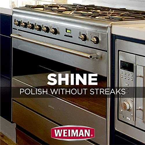 Weiman Stainless Steel Cleaner and Polish Wipes Bundle with Microfiber Cloth-Removes Fingerprints, Water Marks and Grease from Appliances - Works Great on Refrigerators, Ovens, and Grills: Health & Personal Care