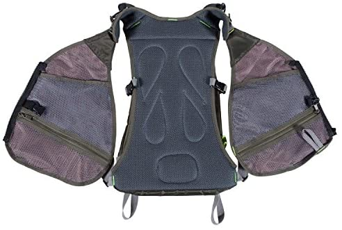 Elkton Outdoors Universal Fit Fly Fishing Vest Backpack with Hard Shell Storage Compartments and Rod Holders: Clothing