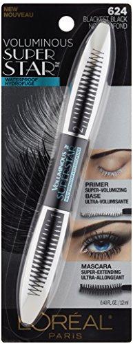 L'Oreal Paris Cosmetics Voluminous Superstar Washable Mascara, Blackest Brown, 1 Tube : Beauty