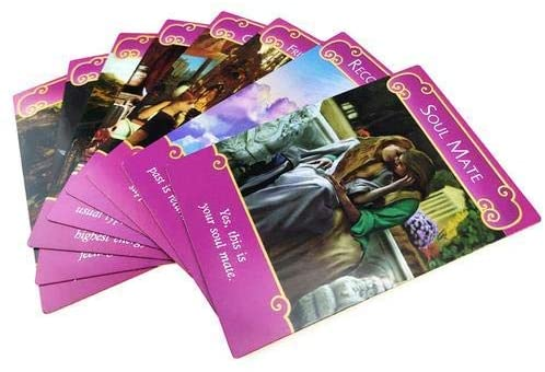 mollylower Rare Romance Angels Tarot Cards,Out of Print 44pcs Series Love Angel Poker Cards by Doreen Virtue for Destiny Prediction,Gold Plated Series,Clarity About Soulmate Relationships: Toys & Games