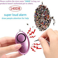 Personal Alarm for Women 140DB Emergency Self-Defense Security Alarm Keychain with LED Light for Women Kids and Elders-3 Pack : Camera & Photo