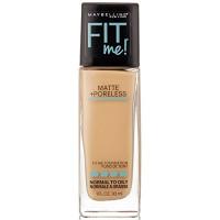 Maybelline Fit Me Buff Beige Matte Plus Poreless Foundation -- 2 per case. : Beauty