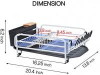 Kingrack Aluminum Dish Drying Rack, Large Dish Rack and Drain Board Set, Kitchen Dish Rack