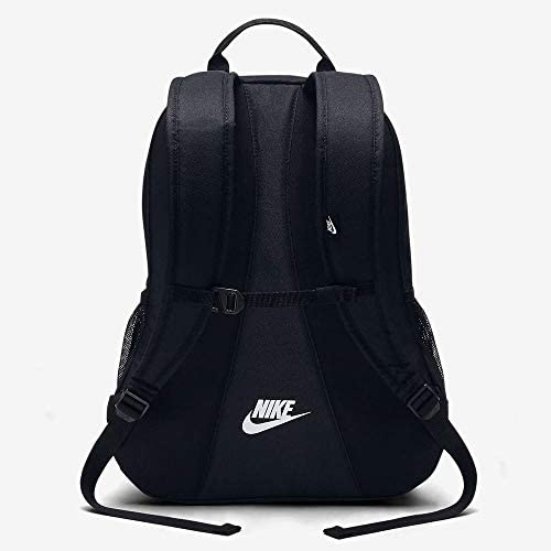Nike Sportswear Hayward Futura Backpack for Men, Large Backpack with Durable Polyester Shell and Padded Shoulder Straps, Black/Black/White: NIKE: Clothing