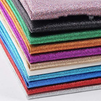 "BUYGOO Glitter Faux Leather Sheets, 32 Colors Shiny Faux Leather Sheets PU Faux Leather Fabric Sheet for Bow, Earring, Jewelry Making, Sewing, Shoe Making and Craft Making, 8.6"" x 12.6"""