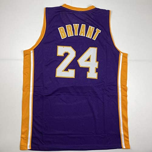 Unsigned Kobe Bryant #24 Los Angeles LA Purple Custom Stitched Basketball Jersey Size Men's XL New No Brands/Logos at 's Sports Collectibles Store