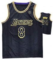 Bryant #8+#24 with KB Logo Basketball Jerseys,Black Mamba Basketball Uniform Swingman Sportswear,Breathable and Comfortable Sweatshirt Competition Vest: Sports & Outdoors
