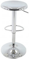Brage Living Adjustable Metal Stool (Chrome): Furniture & Decor