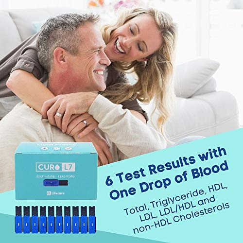 CURO-L7 Professional Grade Blood Cholesterol Test Home KIT (All-in-One : Test Device, Test Strips 10ea, Lancets & EziTube Rod Included): Industrial & Scientific