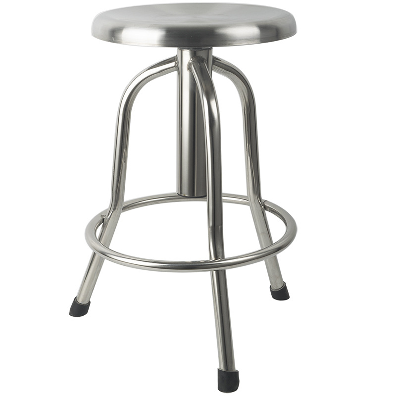Stainless Steel Chair Lift Stool Rotating proof Spiral 304 Laboratory Beauty Salon Hospital Medical Heightening Pulley