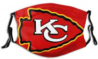 Printed Pattern Face Mask, Chiefs Fans Cool Sports Cover- Fashion Graphic Reusable Dust Outdoors at Men's Clothing store