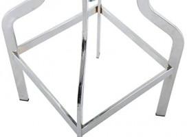Brage Living Height Adjustable Round Seat Top Metal Barstool - Chrome (1 PC): Furniture & Decor