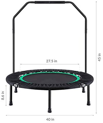 Ludosport Foldable Trampoline Rebounder 40 Inch Fitness Trampoline for Kids Adults Workout Max Load 300 lbs Rebounder Jumping : Sports & Outdoors