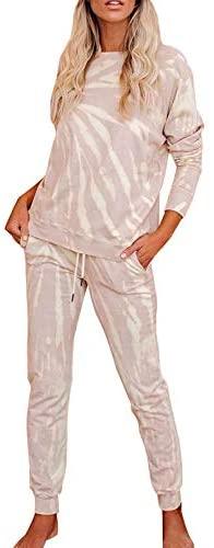 Fixmatti Women Two Piece Outfit Matching Leisure Set Casual Sweatsuits Tracksuit at Women's Clothing store
