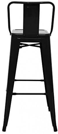 ABBLE 30 Inch Metal Bar Stools Metal Bucket Back Barstool Indoor Outdoor Kitchen Stools Set of 4 - Matte Black: Furniture & Decor