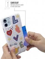 [BTS DNA Theme Card Snap Case] Officially Licensed Product, Designed for iPhoneXR, Slim, Hard PC case, cardholder