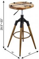 Brage Livng Rose Gold Four-Legged Swivel Adjustable Height Barstool with Footrest (Rose Gold): Furniture & Decor