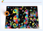 Manufacturers Scratch Painting Colorful Scraping Paper Painting Graffiti